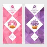 包装甜点的传染媒介套模板 向量例证