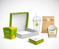 包装的快餐现实集合 向量例证