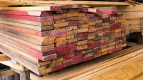 包装的木被堆积的,原材料 库存图片