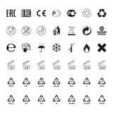包装的符号集,传染媒介 库存照片
