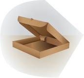 包装的箱子由纸板制成 打开,支持并且冠上 免版税库存照片