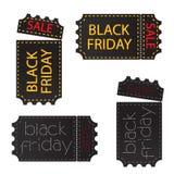 包装票与插队与销售的黑色标签的黑星期五 皇族释放例证