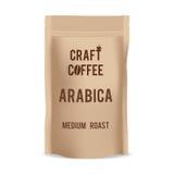 包装纸食物工艺咖啡袋子包裹  现实传染媒介大模型模板 传染媒介成套设计 免版税库存图片