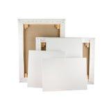 画廊包裹了在木制框架-担架酒吧的空白的帆布 库存图片