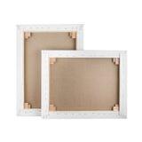 画廊包裹了在木制框架-担架酒吧的空白的帆布 免版税库存图片