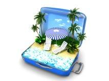 包裹海滩假期 免版税库存图片