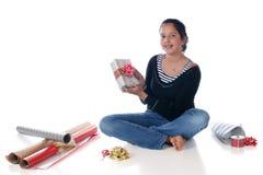 包裹的圣诞节  免版税库存图片