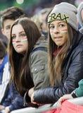 匈牙利与荷兰 克罗地亚国际友好的足球比赛 免版税库存照片