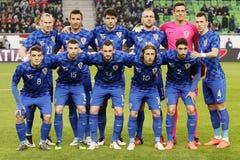 匈牙利与荷兰 克罗地亚国际友好的足球比赛 库存照片