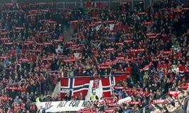 匈牙利与荷兰 挪威UEFA欧元2016年合格者淘汰赛足球比赛 库存照片