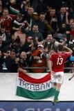 匈牙利与荷兰 法罗群岛UEFA欧元2016年合格者橄榄球matc 免版税库存图片