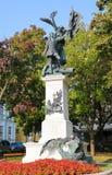 1849匈牙利人独立宣言纪念碑,布达佩斯, H 图库摄影