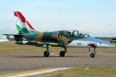 匈牙利人空军队航空L-39信天翁喷气机教练员 免版税库存照片