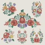 匈牙利传统花装饰。 库存照片