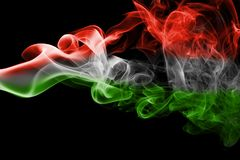 匈牙利全国烟旗子 库存图片