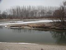 匈牙利冬天风景 免版税库存照片