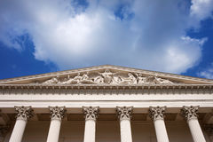 匈牙利国家博物馆结构上详细资料 免版税库存照片