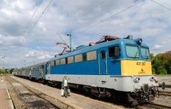 匈牙利地方火车 免版税图库摄影