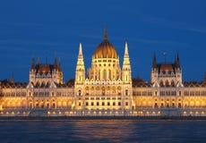 匈牙利大厦的议会在布达佩斯 免版税库存图片