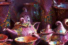 匈牙利手工制造陶瓷 图库摄影