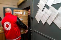 匈牙利捐赠了麻疹疫苗对Transcarpathian地区  库存照片