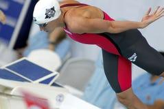 匈牙利游泳者Katinka Hosszu 库存图片