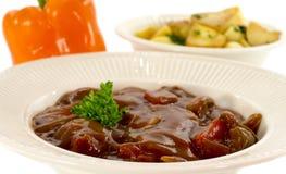 匈牙利牛肉食物 免版税库存照片