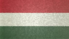 匈牙利的旗子的原始的3D图象 库存图片