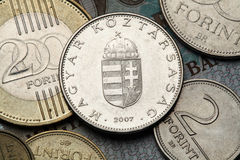 匈牙利的硬币 图库摄影