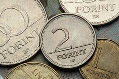 匈牙利的硬币 免版税库存照片