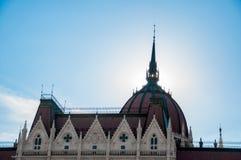 匈牙利的议会详述 免版税库存照片