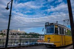 匈牙利的首都由多瑙河横渡的布达佩斯 图库摄影