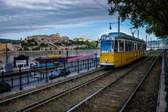 匈牙利的首都由多瑙河横渡的布达佩斯 库存照片