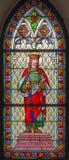 匈牙利的Trnava -圣斯德望国王从st海伦教会窗玻璃的从19的 分 库存图片