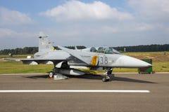 匈牙利空军绅宝JAS39 Grippen喷气式歼击机飞机 免版税库存照片