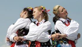 匈牙利舞蹈演员 免版税图库摄影