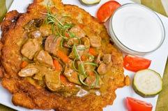 匈牙利薄煎饼土豆 免版税库存照片