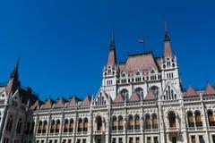 匈牙利议会在布达佩斯 免版税图库摄影