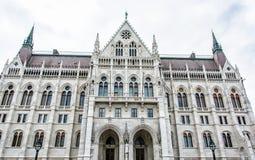匈牙利议会大厦在布达佩斯,匈牙利 图库摄影