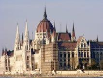 匈牙利议会大厦在布达佩斯 库存照片