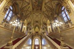 匈牙利议会大厦在布达佩斯 免版税库存图片