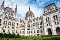 匈牙利议会大厦- Orszaghaz在布达佩斯,匈牙利 库存图片