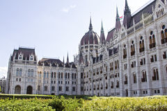 匈牙利议会的大厦在布达佩斯,匈牙利 图库摄影
