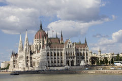 匈牙利议会的大厦在布达佩斯,匈牙利 库存图片