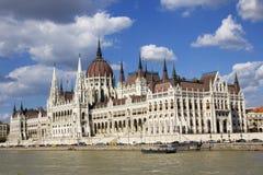 匈牙利议会的大厦在布达佩斯,匈牙利 库存照片