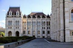 匈牙利议会的大厦在布达佩斯 免版税库存照片