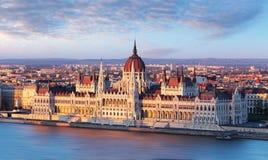 匈牙利议会,布达佩斯标志 库存照片
