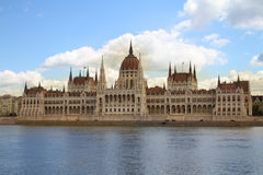 匈牙利议会,布达佩斯,匈牙利 免版税库存照片