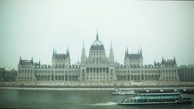 匈牙利议会,布达佩斯建立射击 股票视频