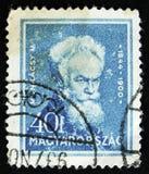 匈牙利语显示Mihaly Munkacsy,匈牙利画家,系列`著名匈牙利人`画象,大约1932年 库存图片